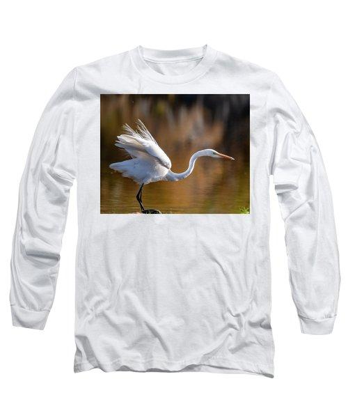 Floofy Egret Long Sleeve T-Shirt