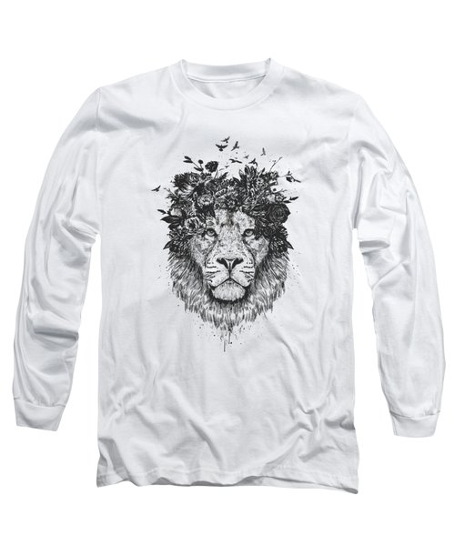 Floral Lion Long Sleeve T-Shirt