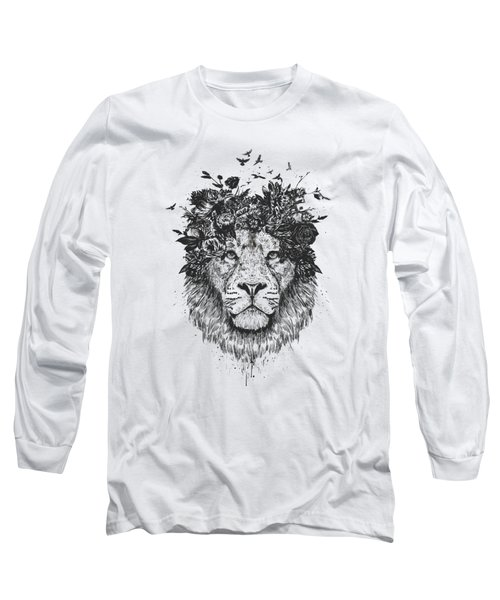 Floral Lion Long Sleeve T-Shirt
