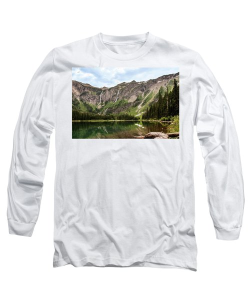 Floral Park Falls Monument Falls Avalanche Basin Falls Across Avalanche Lake Glacier National Park Long Sleeve T-Shirt