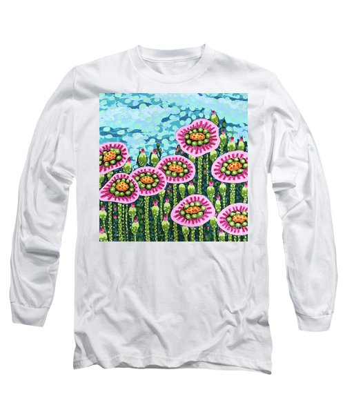 Floral Whimsy 8 Long Sleeve T-Shirt