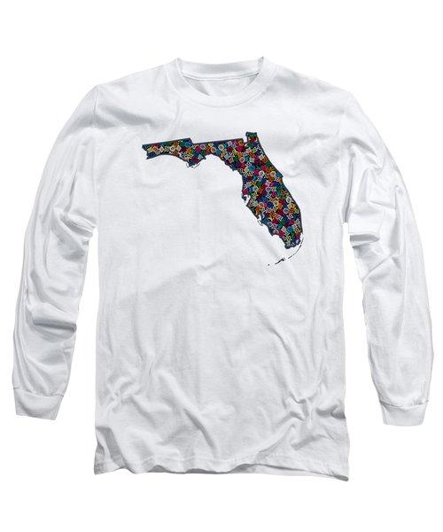 Florida Map - 1 Long Sleeve T-Shirt
