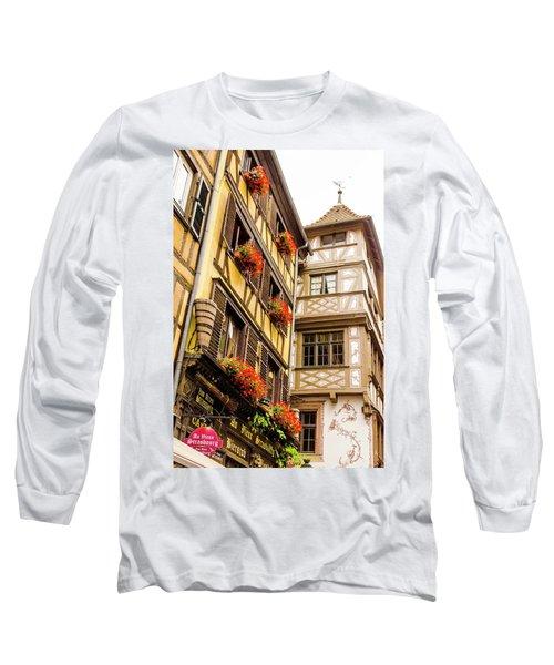 Flower Boxes Strasbourg Long Sleeve T-Shirt