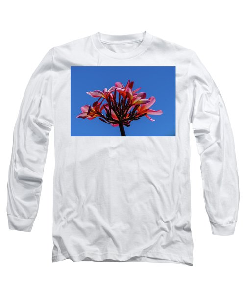 Flowers In Clear Blue Sky Long Sleeve T-Shirt