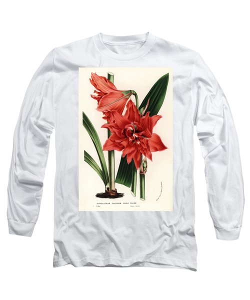 Flowers Of The Gardens And Hothouses Of Europe, Ghent, Belgium, 1862-65. Long Sleeve T-Shirt