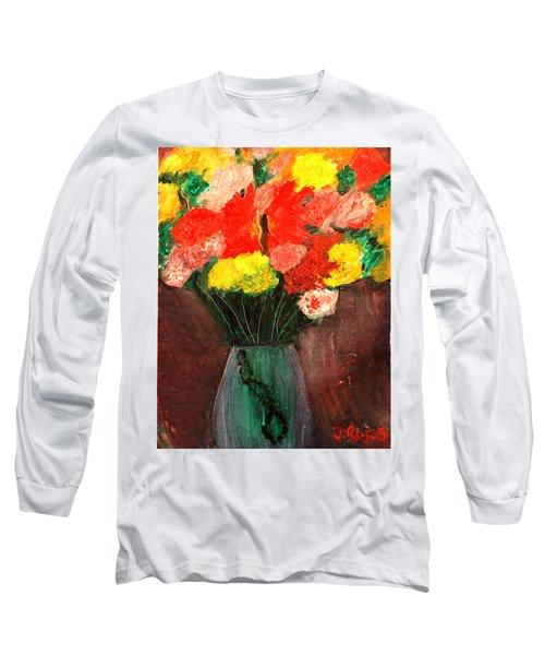 Flowers Still Life Long Sleeve T-Shirt