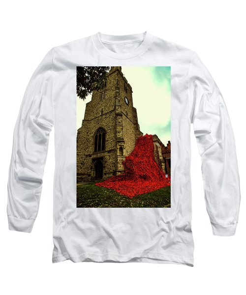 Flowing Poppies Long Sleeve T-Shirt
