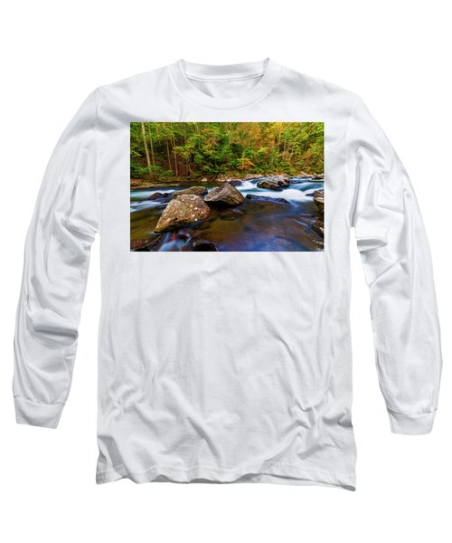 Long Sleeve T-Shirt featuring the photograph Flowing Waters by Andy Crawford