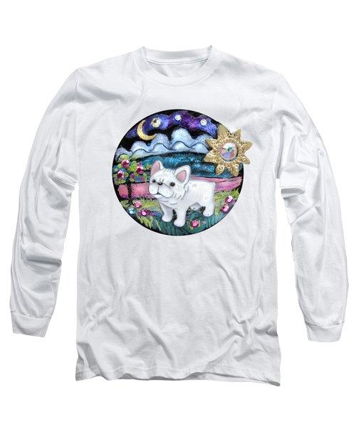 French Bull Dog Puppy Jewelry Art Long Sleeve T-Shirt
