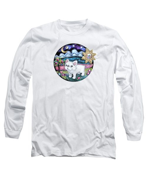 French Bull Dog Puppy Jewelry Art Long Sleeve T-Shirt