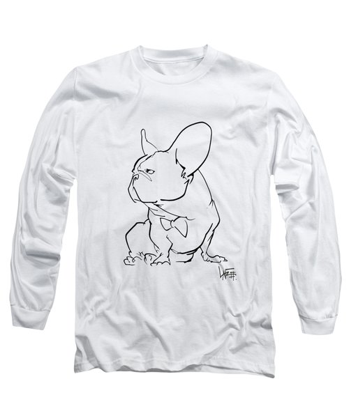 French Bulldog Gesture Sketch Long Sleeve T-Shirt