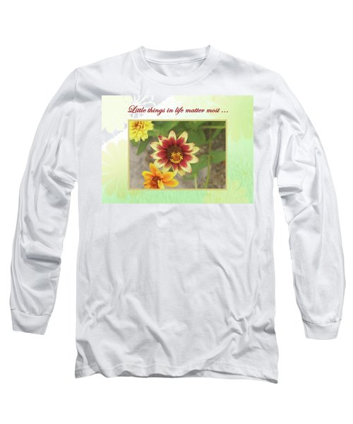 Friendship, A Smiling Indian Blanket Flower  Long Sleeve T-Shirt