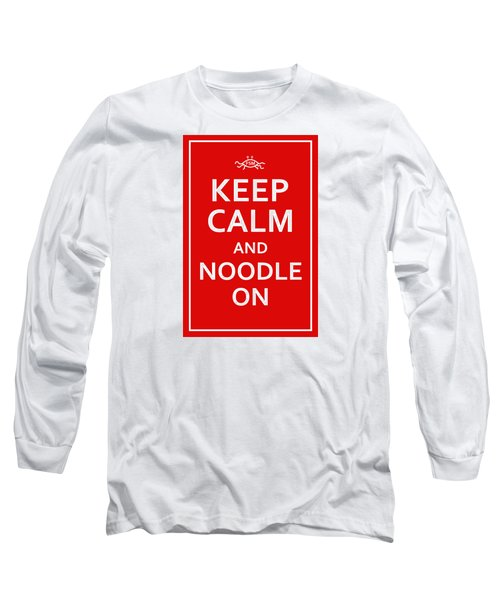 Fsm - Keep Calm And Noodle On Long Sleeve T-Shirt
