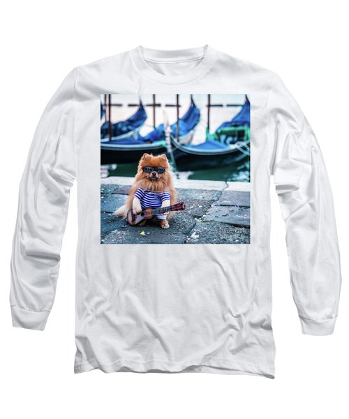 Funny Dog At The Carnival In Venice Long Sleeve T-Shirt