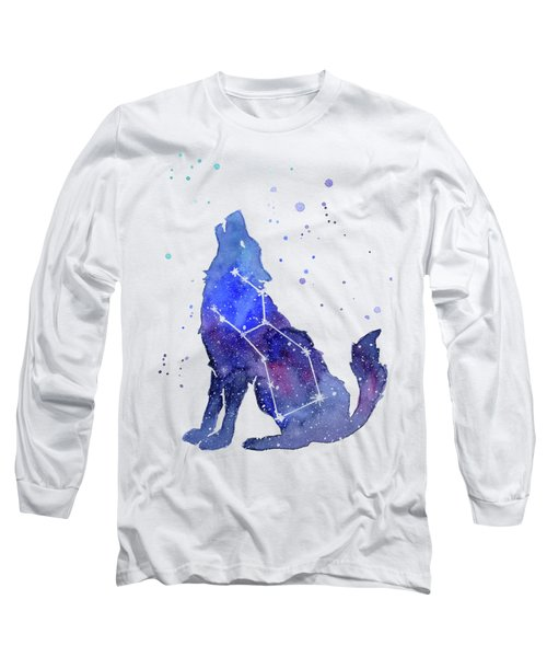 Galaxy Wolf - Lupus Constellation Long Sleeve T-Shirt