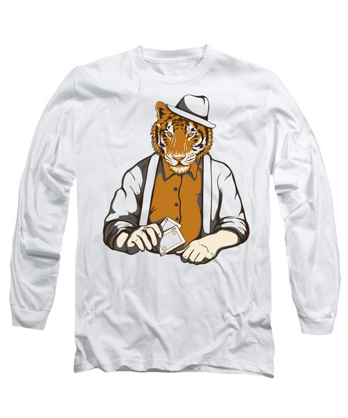 Gambling Tiger Long Sleeve T-Shirt