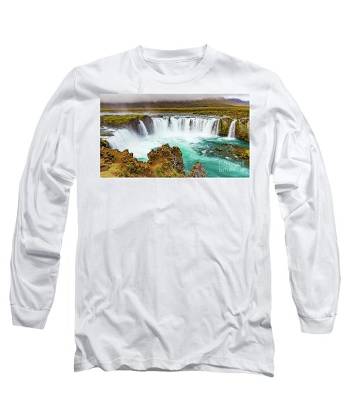 Godafoss Waterfall, Iceland Long Sleeve T-Shirt