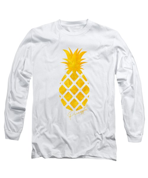 Gold Pineapple Long Sleeve T-Shirt