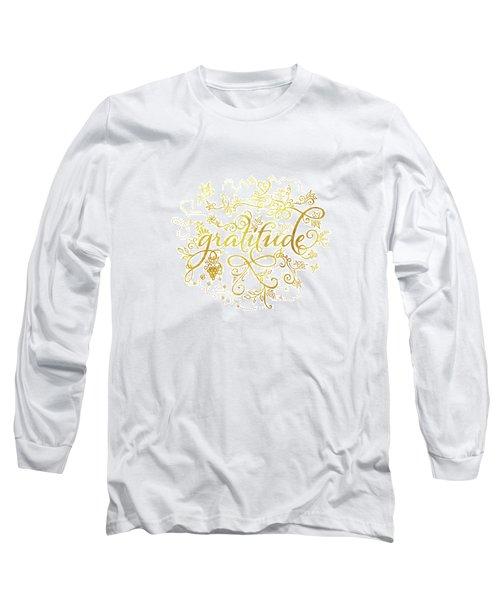 Golden Gratitude Long Sleeve T-Shirt