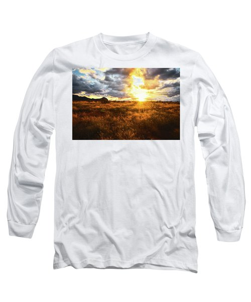 Golden Light Of Southern Arizona Long Sleeve T-Shirt