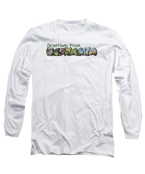Greetings From Nebraska Big Letter Long Sleeve T-Shirt