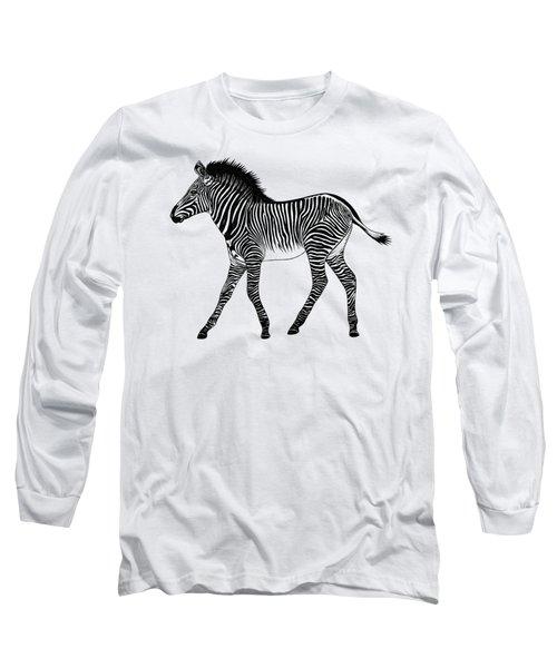 Grevy's Zebra Foal Long Sleeve T-Shirt
