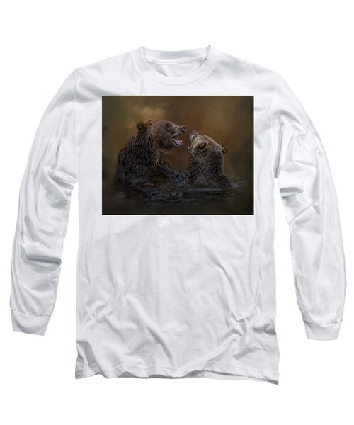 Grizzlies At Play Long Sleeve T-Shirt