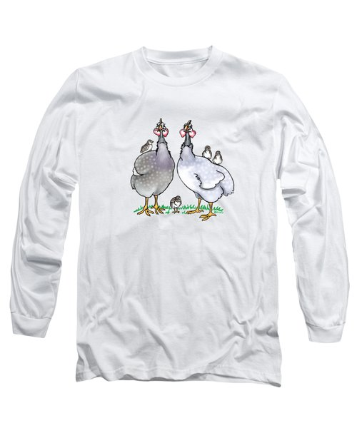 Guinea Fowl Family  Long Sleeve T-Shirt