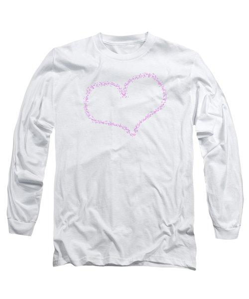 Heart Shaped Love Birds Long Sleeve T-Shirt