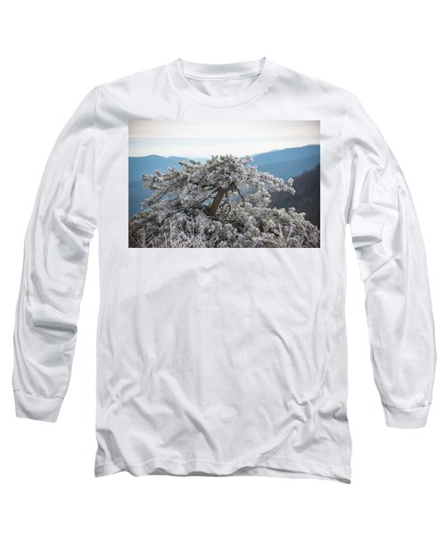 Hoarfrost In The Blue Ridge Mountains Long Sleeve T-Shirt