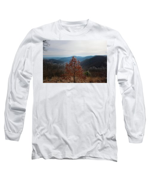Hoarfrost On Fall Leaves Long Sleeve T-Shirt
