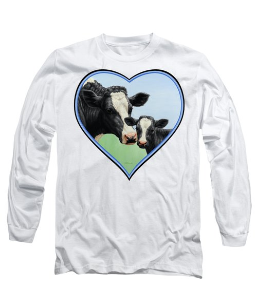 Holstein Cow And Calf Long Sleeve T-Shirt
