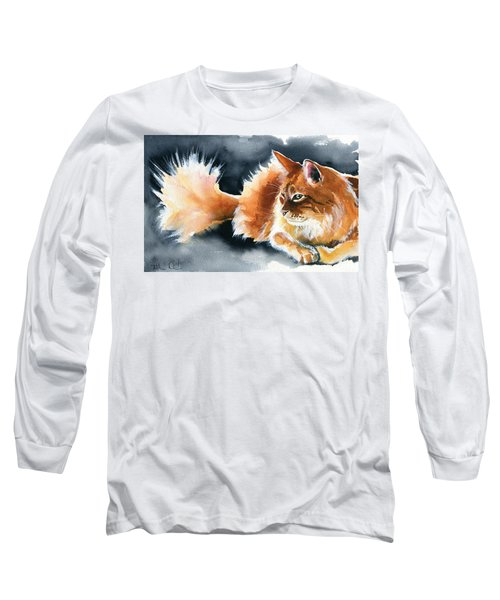 Holy Ginger Fluff - Cat Painting Long Sleeve T-Shirt