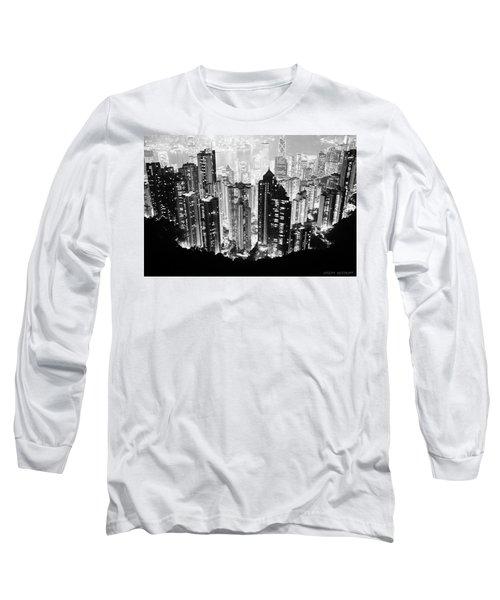 Hong Kong Nightscape Long Sleeve T-Shirt