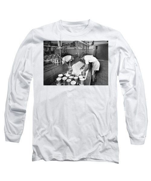 Hooping Of The Curd  Mount Tyson Co Op Dairy Association Cheese Factory  November 1951 Long Sleeve T-Shirt
