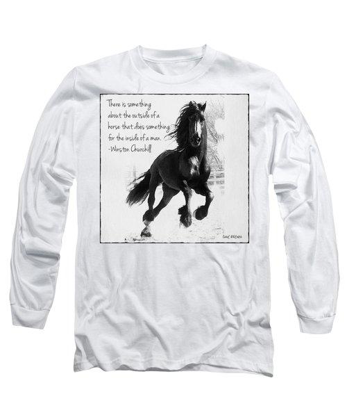 Horse's Profound Spirit  Long Sleeve T-Shirt