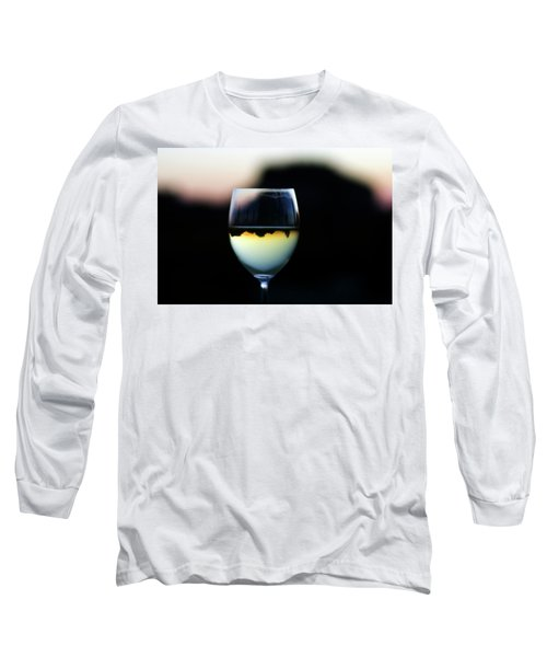 Inverted Landscape In Wine Glass Long Sleeve T-Shirt