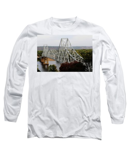 Iowa - Mississippi River Bridge Long Sleeve T-Shirt