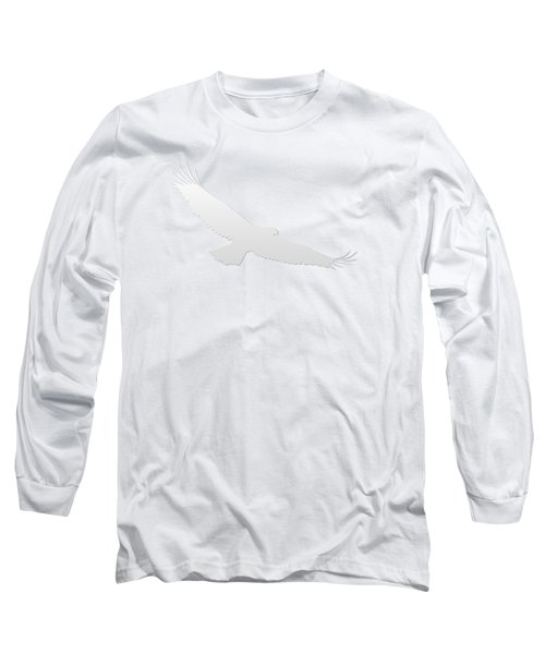 Isolated Bald Eagle 2018-3 Gradient Long Sleeve T-Shirt
