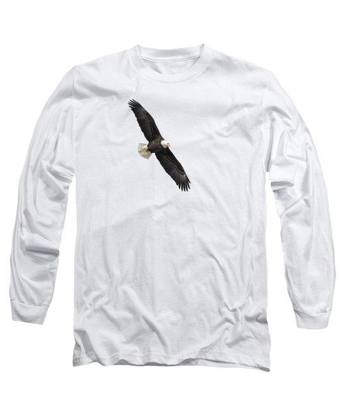Isolated Bald Eagle 2019-1 Long Sleeve T-Shirt