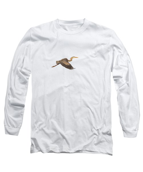 Isolated Great Blue Heron 2019-1 Long Sleeve T-Shirt