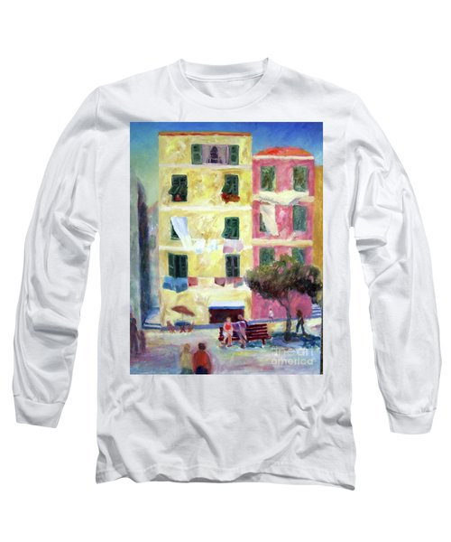 Italian Piazza With Laundry Long Sleeve T-Shirt