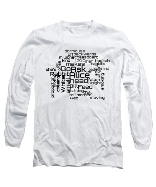Jefferson Airplane - White Rabbit Lyrical Cloud Long Sleeve T-Shirt