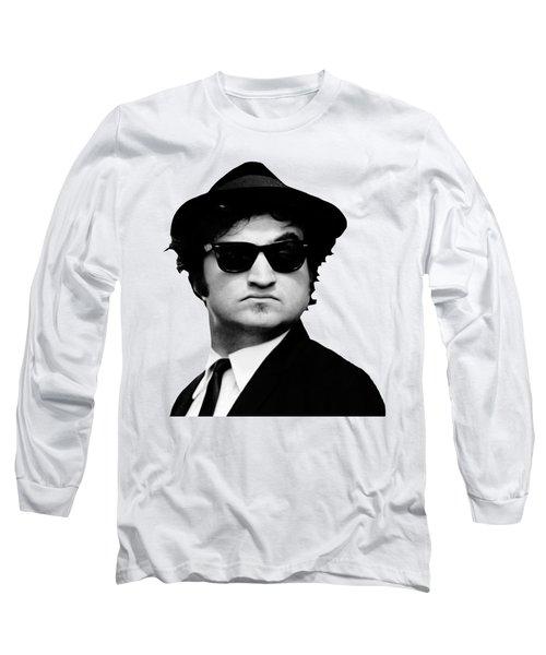 John Belushi Minimalistic Greyscale Long Sleeve T-Shirt