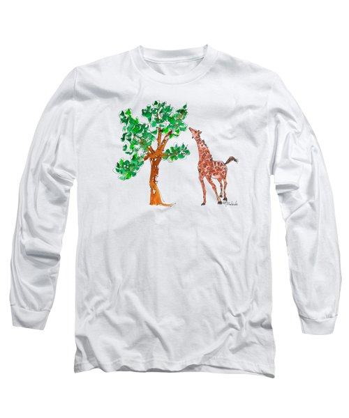Jungle Giraffe Reach Long Sleeve T-Shirt