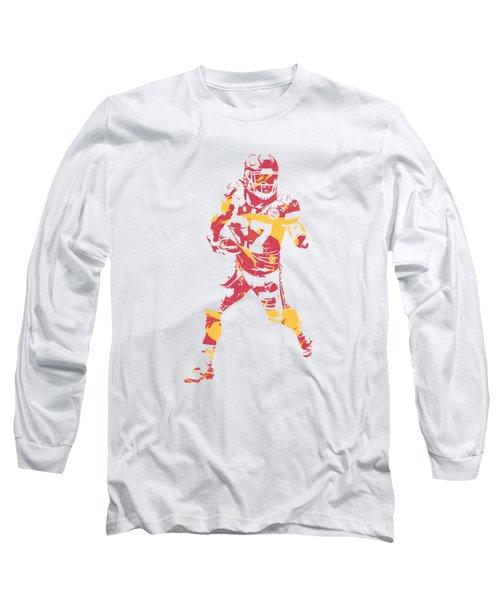 Kareem Hunt Kansas City Chiefs Apparel T Shirt Pixel Art 3 Long Sleeve T- Shirt 69cd22fe2