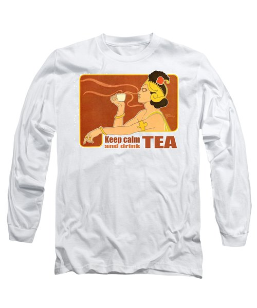 Keep Calm And Drink Tea Long Sleeve T-Shirt