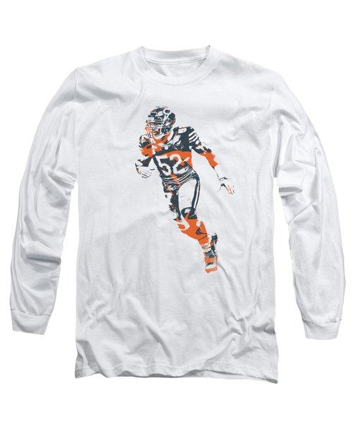 Khalil Mack Chicago Bears Apparel T Shirt Pixel Art 2 Long Sleeve T-Shirt