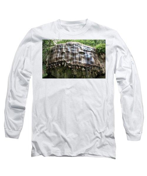 Knaresborough, Stone Waterfall Long Sleeve T-Shirt