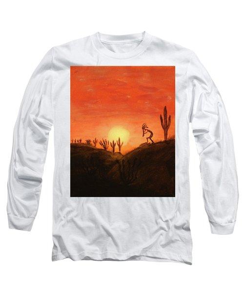 Kokopelli's Sunset Song Long Sleeve T-Shirt